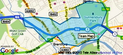 Brentford area SNT map