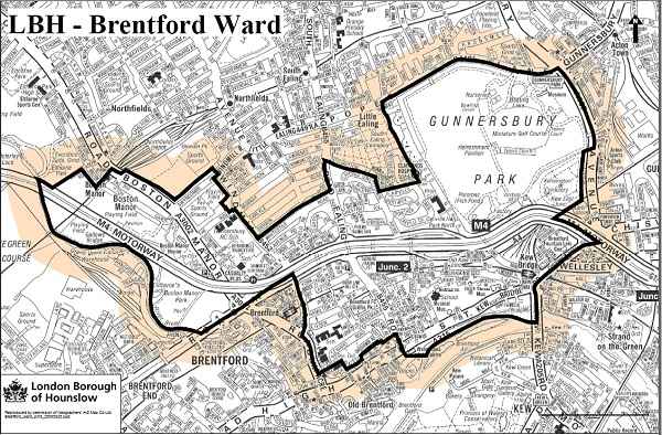 Brentford ward map
