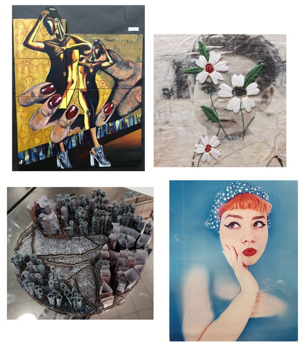 Images by Shante Simpson, Molly Hall, Annette Jutt and Urooj Razzak (A-Level work)