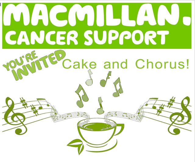 Cake and Chorus for Macmillan Canncer