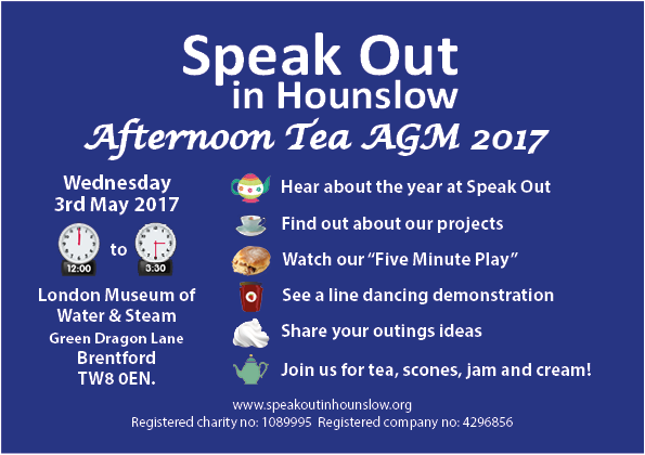 Speak Out in Hounslow Afternoon Tea