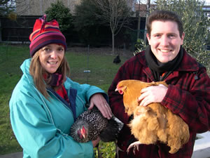 Cllrs Caroline Andrews and Andrew Dakers with Ascot and Butternut