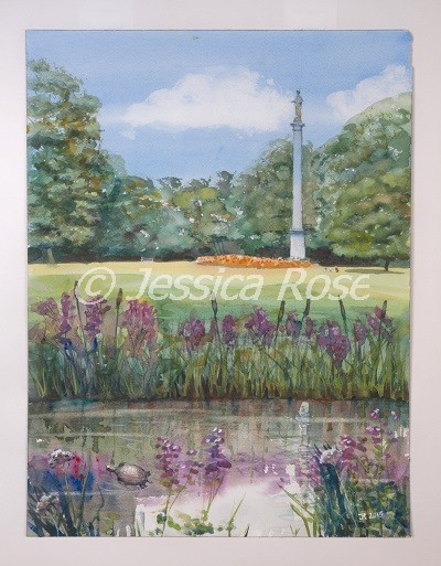 Flora Column, Syon Park (watercolour by Jessica Rose)