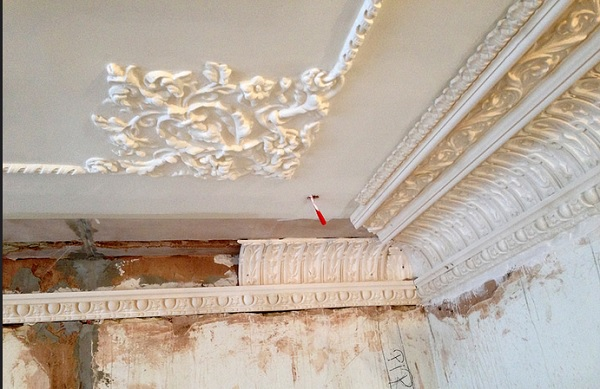Bespoke ornate cornice to match existing
