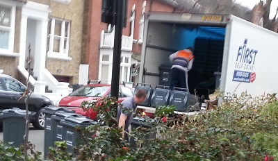 Delivery of wheelie bins